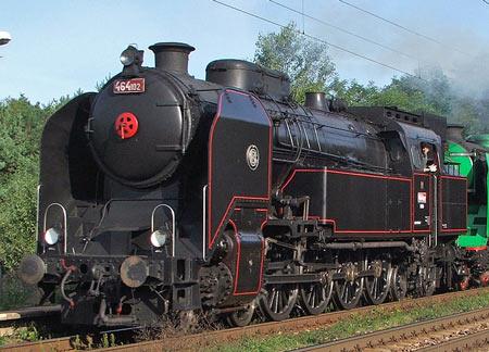 Ušatá nebo Bulík - parní lokomotiva řady 464.0 nebo 464.1
